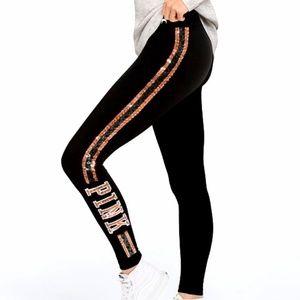 VS PINK bling cotton logo leggings